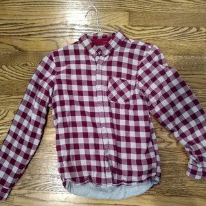 Boys Red & Gray Flannel
